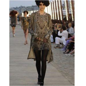 Chanel resort 2010 runway mini metallic dress